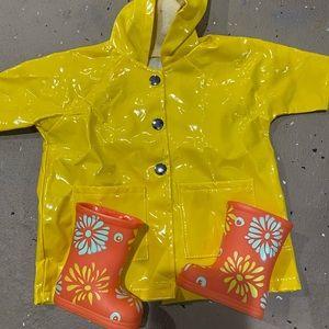 American Girl Rain jacket and Boots